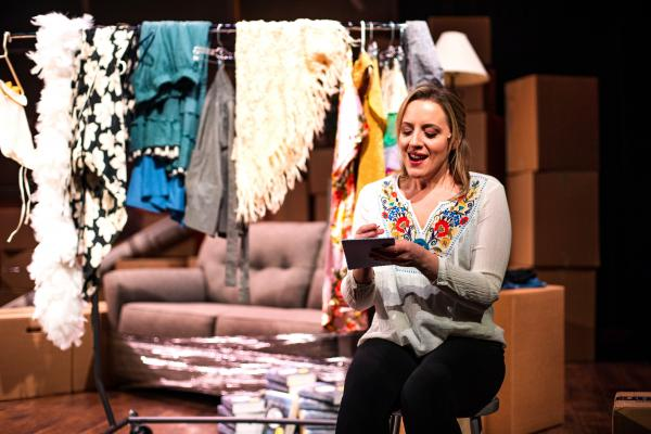 Abby Mueller performs at the Warren Miller Performing Arts Center as Catherine Hiatt, a struggling actress.