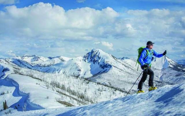 In this backcountry zone just south of Big Sky, skiers share the terrain with bison, moose and grizzlies.