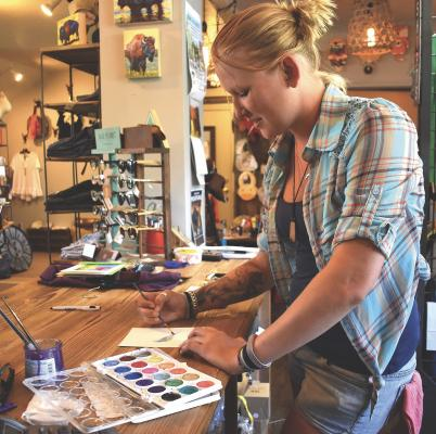 Watercolors are a current favorite of artist Katelee McTaggart, who can whip one up in no time at all.