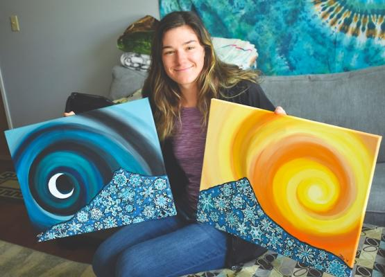 She may be young, but Tilly Mattox has plenty of painting experience. Once she finished up working for ski school, she took to the canvas, creating a number of paintings in just a few weeks. With those complete, she's now looking forward to teaching the craft to kids at the Discovery Academy Art Camp this summer.