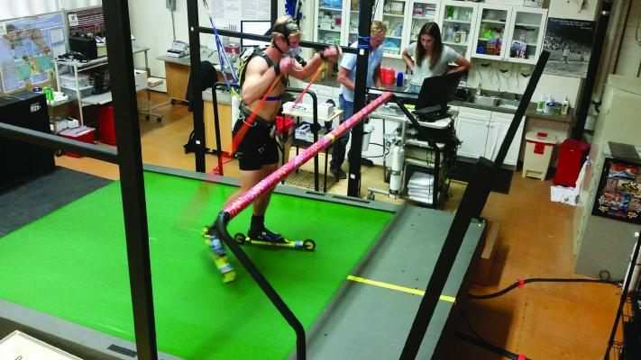 Montana State's ski teams work with the Health and Human Development department to learn about Bobcat student-athletes' best training levels to succeed at the collegiate level.