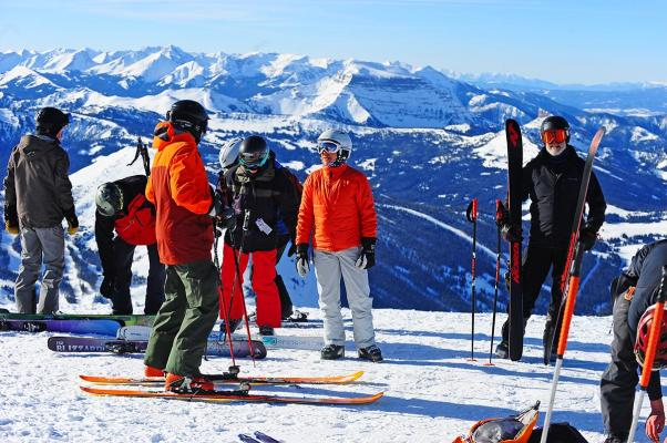 Ski Mo fans assemble at 11,166 feet to cheer on the racers.