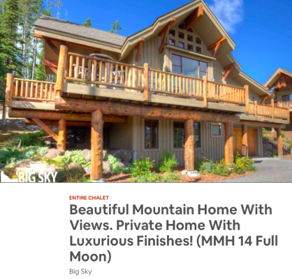 """A quick internet search for """"Big Sky vacation rentals"""" brings up hundreds of options, from a bedroom in a shared unit to a six-bedroom, ski accessible home with a $711/night rate, and everything in between. EDITOR'S NOTE: This rental image was used as an example of options in Big Sky, and is by no means being conveyed as non-compliant."""