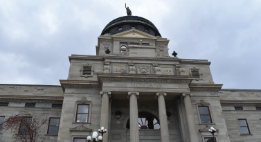 An overcast day in Helena, the Legislature has been hashing-out hot button topics like sage grouse protection and concealed carry in the House chamber before the second reading of SB 241.
