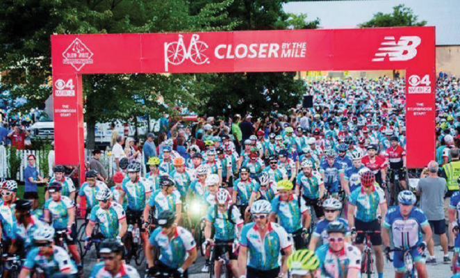 Caitlin Tamposi of Big Skywillbe among more than 6,700 riders cycling up to 192 miles in the 40thPan-Mass Challenge(PMC) on August 3 and 4, with the goal of raising $60 million for cancer research and treatment at Dana-Farber Cancer Institute.