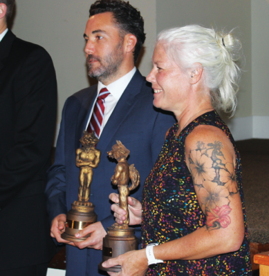 Hello, Hall of Fame! Melissa Emery is  inducted into the  University of Southern Maine Hall of  Fame for her success  in field hockey.  PHOTO COURTESY  MELISSA EMERY