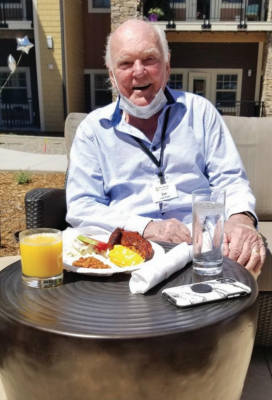 Residents of The Springs are still finding the sunshine and reasons to smile thanks to some creative ideas from the staff. PHOTO COURTESY THE SPRING