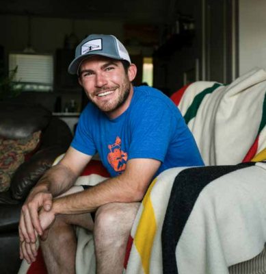 Thomas Odenthal in his MeadowView condo after he secured a two-bedroom unit during Phase 1. The waiting list was long and he is happy to now have a place to call home. PHOTO BY BECKY BROCKIE
