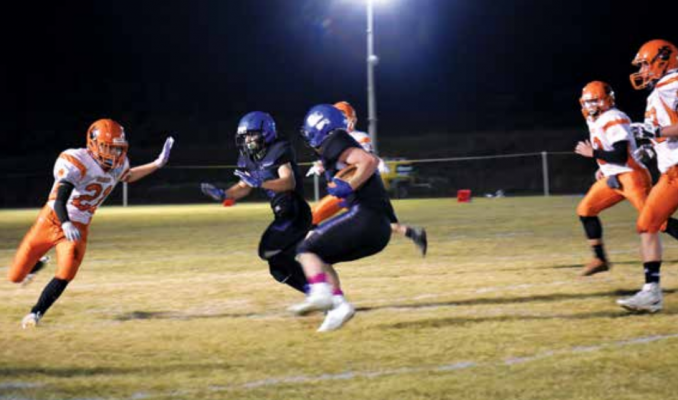 Some Big Horns football players are learning to be adaptable, filling positions on the team they had never played before. They are learning and improving daily, Coach Farr said. Photo by Jana Bo