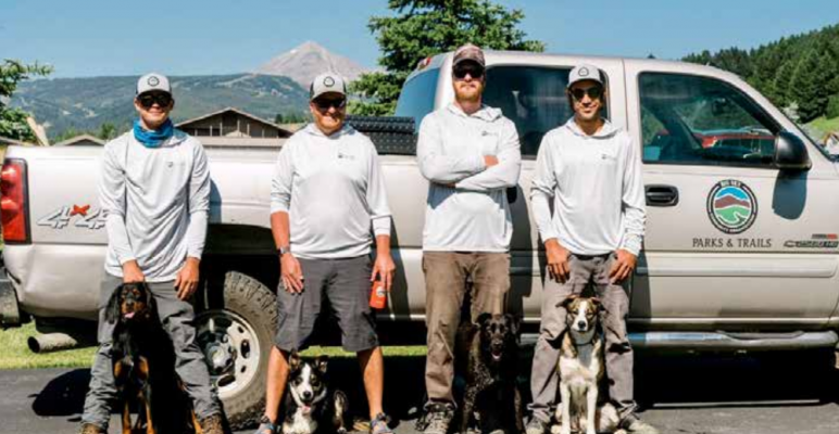 Big Sky Community Organization volunteers work tirelessly to keep the trails nice for all season use. PHOTO COURTESY BSCO