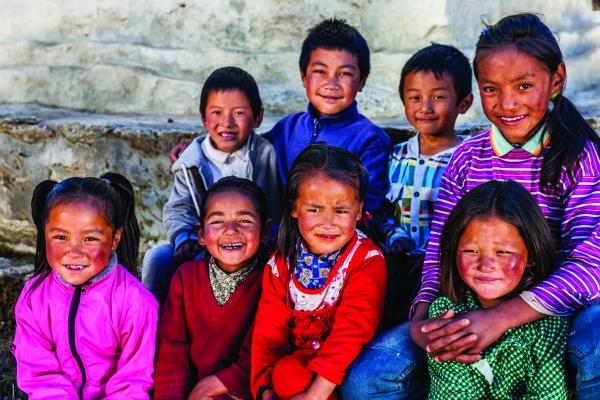 The faces of Nepal's youth.