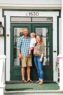 Lucas, Shannon and two-year-old Gideon Westblade prepare to leave Big Sky to run their family business on Mackinac Island.
