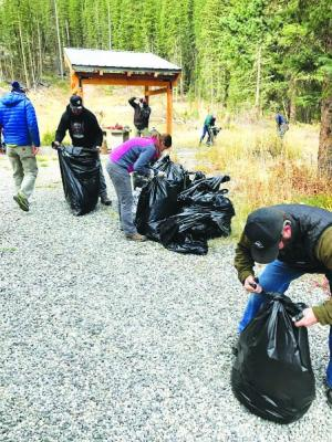 Volunteers from Big Sky and Bozeman convened at the Red Cliff shooting range to clean up what other users left behind. The range is located on Forest Service land, and if trash continues to pile up, the area could be closed off to the public.