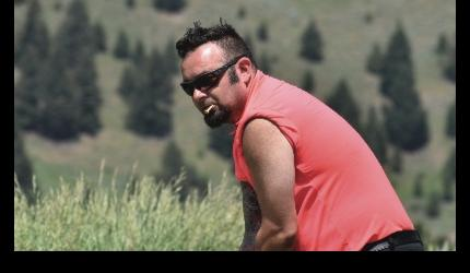 N*SYNC founding member Chris Kirkpatrick has been coming to the BBBS Celebrity Tournament in Big Sky for a number of years. And this year was even better for him—he was able to visit with his young son, wife, family and friends between holes.