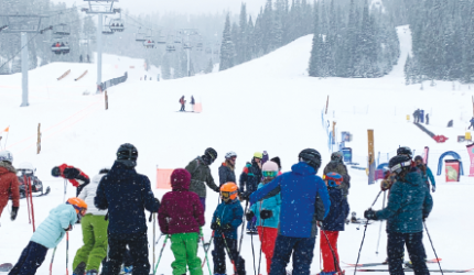 It was busy at the base of Big Sky Resort. PHOTO BY JANA BOUNDS
