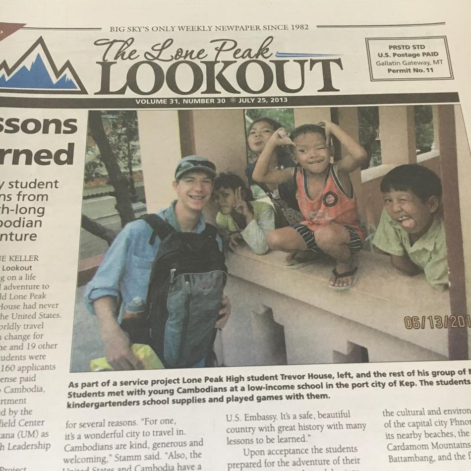 House made the front page of  the Lone Peak Lookout back in July, 2013.