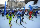 Nearly 90 racers surge across the start line at the beginning of the annual Shedhorn Skimo race held at Big Sky Resort on March 16. Flip to the sports section for more photos and coverage of the extreme event.