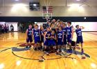 Every player on Ophir Miner's fifth and sixth grade combined basketball team earned the win. PHOTO COURTESY LUCAS WESTBLADE