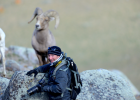 Big Sky photographer Mike Haring fits right in with this shot of bighorn sheep.