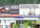This billboard may seem out of place amongst the beauty of the Gallatin Canyon, but it was erected legally, and efforts by canyon residents and the county to force the sign owner to take it down have failed.