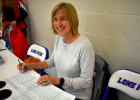 Just keeping score. Renae Schumacher started assisting with youth basketball games by managing the clock six years ago, eventually lending a hand as scorekeeper.