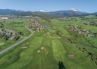 An idyllic aerial view of Big Sky Golf Course with Lone Peak prominent in the distance showcases why many locals love to golf in Big Sky. PHOTO COURTESY DAVE PECUNIES