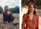 LEFT: Hannah McKinney hiking at Hyalite in Bozeman with her adorable pup. PHOTO COURTESY OF HANNAH MCKINNEY RIGHT: Ellie Jorgensen, post a bridal shower she attending this summer, looking lovely. PHOTO COURTESY OF ELLIE JORGENSEN