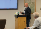 The Big Sky County Water and Sewer board discuss findings from the AE2S study that resulted in a rate hearing. PHOTO BY JANA BOUNDS