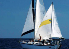 Lee Winters on his sailboat Jargo during his journey around the world. A $40 gift in Cuba might have set up an entrepreneur with a business and saved a family from poverty. PHOTO COURTESY OF LEE WINTERS