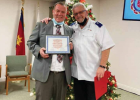 Seth Griggs-Ryan beside Chaplain Raymond Young at his Dec. 3 graduation from treatment in Las Vegas. PHOTO COURTESY OF SETH GRIGGS-RYAN