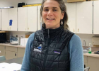 Labs are an important part of Kate Eisele's teaching. Her field work included studying how soil microorganisms were responding to changes in plant communities from too much nitrogen in natural systems. PHOTO BY JANA BOUNDS