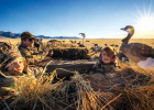 """""""I grew up hunting and enjoying the outdoors lifestyle. Now, Montana is a whole other sportsman's paradise. My love for it in the Midwest increased 10-fold when we moved out here,"""" Deputy Fire Chief Dustin Tetrault said. Now, he has little hunting helpers: Avery and Blakelyn – pictured duck hunting with their dad. PHOTO COURTESY OF DUSTIN TETRAULT"""