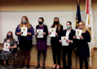 Six competitors in the Montana Department American Legion State level High School Constitutional Oratory contest competed on March 6. Ella Henslee (third from left) from Big Sky represented District 7 at the competition. PHOTO COURTESY DOUG MARTIN
