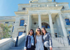 (L to R) Samantha Suazo, Sophia Cone and Carly Wilson represented Lone Peak High School at the 73rd annual Girls State in Helena June 13 – June 19. PHOTO COURTESY SAMANTHA SUAZO