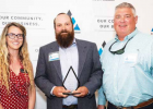 Daniel Bierschwale accepts his award as the Nonprofit Person of the Year. PHOTO COURTESY BIG SKY CHAMBER OF COMMERCE